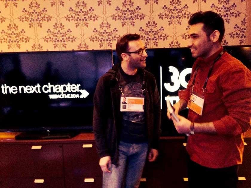 این شانس را داشتم که با سایمون سین در مورد «چرا» ی خودم صحبت کنم. کارگاه طراحی تداکتیو ۲۰۱۴